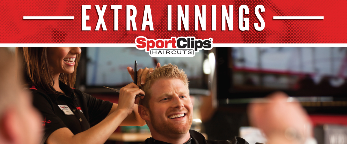 The Sport Clips Haircuts of the Shops at Hudson Oaks Extra Innings Offerings